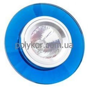 Светильник точечный DELUX HDL 001SCR аквамарин неповорот. Ч5П