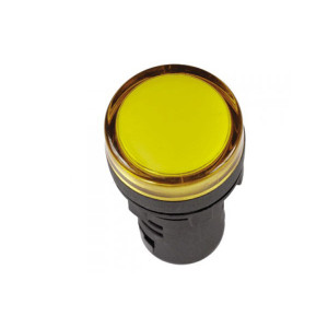 Армат. сигн. світлодіодна АD22С-6/AC220V, жовта АсКо
