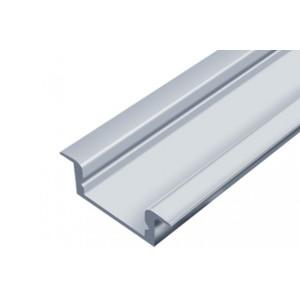 LED Алюмінієвий профіль врізний ЛПВ7 (7*16мм, срібло)