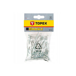 Заклепки 4,0*8мм 50шт алюминевые 43Е401 TOPEX