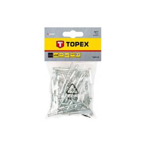 Заклепки 4,0*18мм 50шт алюминевые 43Е405 TOPEX