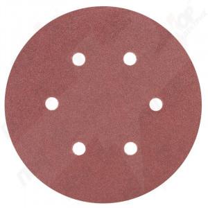 """Папір наждачний """"круглий"""" на личці 150мм 10шт (зерно 80) з отворами SIGMA 9122251"""