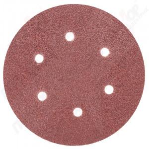 """Папір наждачний """"круглий"""" на личці 150мм 10шт (зерно 60) з отворами SIGMA 9122241"""