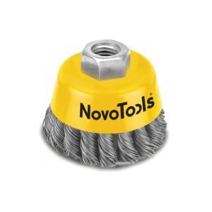 Щетка торцевая NovoTools плет.сталь, 65мм