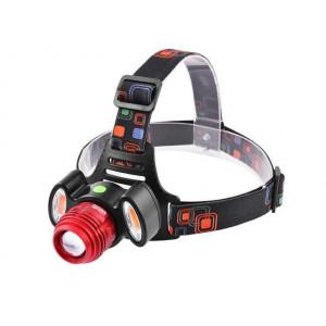 Ліхтар акум. налобний  Police 3117-Т6+2COB 3У USB+велофара