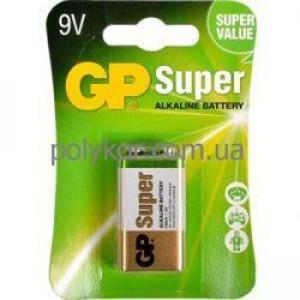 """Батарейка GP 1604A-5UE1 щелочная 6LF22, 6LR61""""Крона"""" (1 шт в упаковке)"""