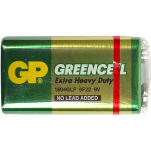 Батарейка GP 1604GLF-U1 солевая 6F22 Крона (1 шт в упаковке)