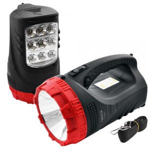Ліхтарик Yajia/LUXURY акум. переносний 2827-3W+9/25 LED