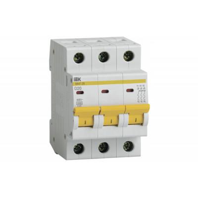 Описание, характеристики, отзывы о   Выключатель автоматический ВА47-29М 3р/D20А, купить в магазине  или  заказать  онлайн