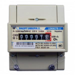 Счетчик электрической энергии ЦЭ6807Б(К) 1, 220 В, 5-60 А М6Р5 на дин-рейку