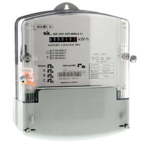 Счетчик эл. энергии НІК 2301 АП3, 220/380 В, 5-120 А (NIK 2301 AP3.0000.0.11)