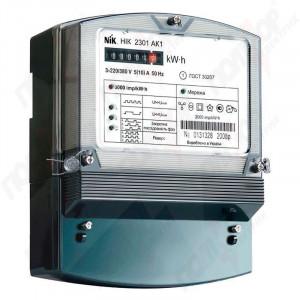 Счетчик электрической энергии НІК 2301 АК1, 220/380 В, 5-10 А