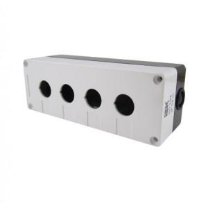 Корпус КП104 для кнопок 4 места белый ИЭК