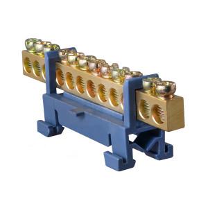 Клемник зануления S.P085 (ВС-512) 6х9мм 12отв DIN АсКо