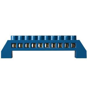 Клеммник зануления в пластиковом корпусе ВС-6А 10 10 отв (6*9мм)  АсКо