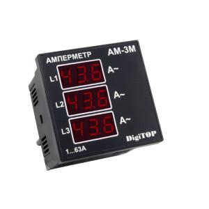 Амперметр Ам -3М трехфазный ЩИТОВОЙ Энергохит, АC 1-63А