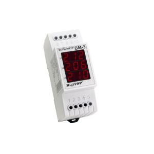 Вольтметр Вм - 3 трехфазный Энергохит, АC 100-400ВВ DIN