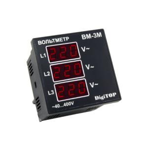 Вольтметр Вм - 1М однофазный ЩИТОВОЙ Энергохит, АC 40-400В