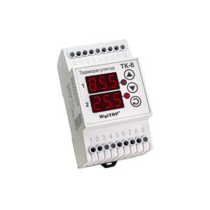 Терморегулятор двухканальный ТК-6 Энергохит DIN