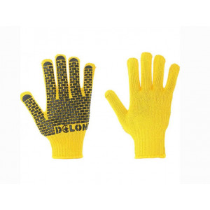 Перчатки 4078 трикотажные Будівник желтые с ПВХ Долони
