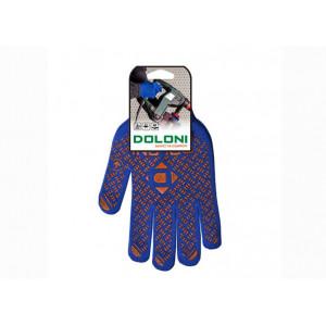 Перчатки 4450 трикотажные синие с ПВХ Универсал PRO Долони