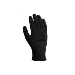 Перчатки 4180 трикотажные черные с латексным покрытием, 3/4 облив Долони