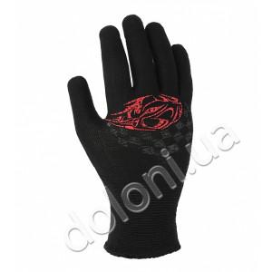 Перчатки 4110 черная с 2-х сторон ПВХ АВТО 100% полиамид Долони