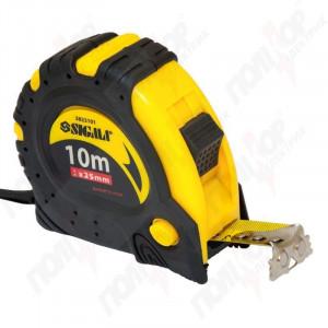 Рулетка SIGMA 10м*25мм магнитная автостоп+тормоз 3823101