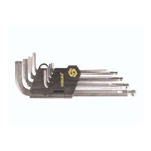 """Набір ключів шестигранних з шарніром SIGMA 9шт 1/6-3/8"""" CrV HEX середні 4022551"""