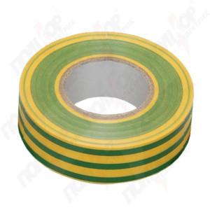 Изолента ПВХ 0,18*19мм/20 м желто-зеленая, ИЕК