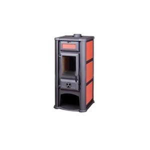 Печь Lederata 9 кВт wood stove ceramic Red (Красная) Tim Sistem