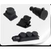 Розетки каучуковые с защитной крышкой